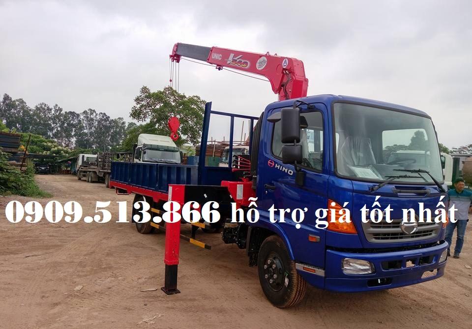 xe tải cẩu hino 5 tấn unic 3 tấn 4 khúc 344